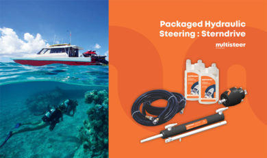 Packaged Hydraulic Steering System : Stern Drive